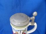 Коллекционная пивная кружка Сюжетная BMF Германия 0,8 L, фото №8