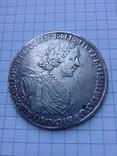 """Рубль 1725 года """"Солнечный"""" СПБ под портретом, над головой трилистник.R- R2, фото №4"""