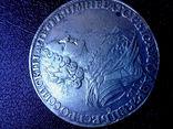 """Рубль 1725 года """"Солнечный"""" СПБ под портретом, над головой трилистник.R- R2, фото №6"""
