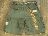 Sabotage semper unique - плотные шорты с ремнем, фото №5