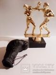 "Статуетка ""Бокс"" и боксёрская перчатка.(пластик, кожа)., фото №2"