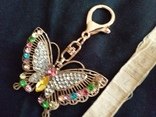 Брелок бабочка с камнями, фото №4