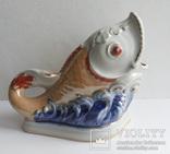Салфетница Рыбка клеймо Коростень, фото №2