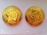"""Памятные медали 40 лет пионерскому лагерю """"Орлёнок"""", 2 шт., фото №2"""