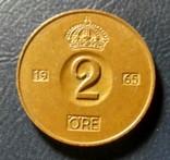 Швеция 2 эре 1965, фото №2