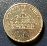 Швеция 1 крона 2008, фото №2