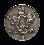 Швеция 2 эре 1943 железо, фото №3