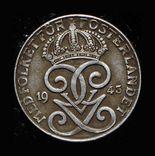 Швеция 2 эре 1943 железо, фото №2