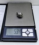 Серебренный кулон 5,34 грамм, двухсторонний с камнями., фото №8