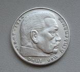 2 марки 1938 г. (G) Третий рейх, серебро, фото №7