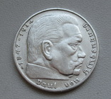 2 марки 1938 г. (G) Третий рейх, серебро, фото №9