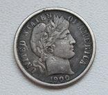 1 дайм / 10 центов 1900 г. США, серебро, фото №5
