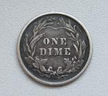1 дайм / 10 центов 1900 г. США, серебро, фото №8