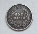 1 дайм / 10 центов 1900 г. США, серебро, фото №9