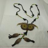 Ожерелье из кожи и меха. Ручная работа народов Севера, фото №2