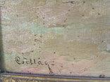 Австро -Венгрия Чиллог Г. х.м. раз. 80 х 60 см. 1900 гг. Закарпатская шк. Ужгород., фото №5