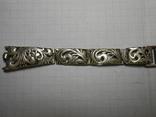 Браслет на часы Серебро 925 Вес - 20,68 грамм, фото №4