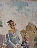 "В.Кнышевский ""Сеют"", х.м.46*40см, 1978г, фото №5"