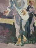 "В.Кнышевский ""Сеют"", х.м.46*40см, 1978г, фото №7"