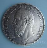 5 марок, Баден, 1893 год., фото №2