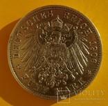 5 марок, Бавария, 1906 год,, фото №5