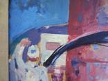 """В.Кнышевский """"Строительство АЭС"""", орг.м.51*68см, 1979г, фото №6"""