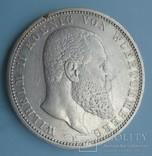 5 марок, 1899 год, Вюртемберг,, фото №3