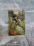 Барельефиз Целлулоида Спорт Большой Теннис Подпись Автора  25Х17 см   0.8 кг, фото №2