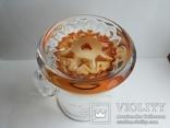 Пивная кружка массивная чешское цветное стекло, фото №7