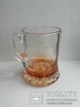 Пивная кружка массивная чешское цветное стекло, фото №11