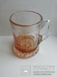 Пивная кружка массивная чешское цветное стекло, фото №12