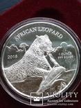 Леопард Ганны 2018 1oz Серебро 999 Гана 5 седис  тираж 8500шт, фото №4