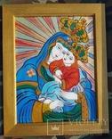 Икона на стекле авт.О.ковальчук Почаевская Богородица, фото №2