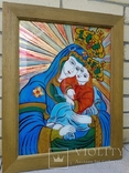 Икона на стекле авт.О.ковальчук Почаевская Богородица, фото №5