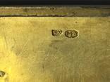 Портсигар Россия, начало 20 века. серебро, золото, фото №6
