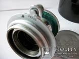 Объектив индустар-22 [белый,тубусный-нов] футляр,передняя крышка оригинальные, фото №4