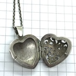 Подвес серебро сердце на цепочке, фото №7