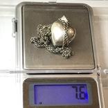 Подвес серебро сердце на цепочке, фото №11