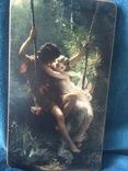 На качелях.Италия. репродукция, фото №2