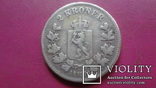 2  кроны 1878  Норвегия тираж  300000  серебро  (S.2.7)~, фото №2