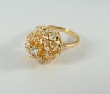 Золотое кольцо с бриллиантами, фото №3