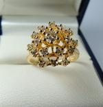 Золотое кольцо с бриллиантами, фото №6