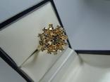 Золотое кольцо с бриллиантами, фото №12