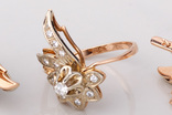 Серьги и кольцо с бриллиантами, фото №8