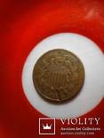 2 цента 1871 редкий тип, фото №5