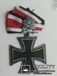 Рицарский железный крест с листьям и мечами. Реплика., фото №3