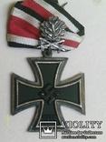 Рицарский железный крест с листьям и мечами. Реплика., фото №4