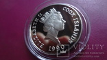 10  долларов 1990  Бег острова  Кука серебро   (S.4.9)~, фото №4