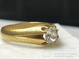 Золотое кольцо с бриллиантом 56 пробы Российская Империя, фото №5
