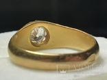 Золотое кольцо с бриллиантом 56 пробы Российская Империя, фото №9